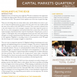 Capital Markets Quarterly 1Q15