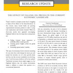 THE EFFECT OF FALLING OIL PRICES ON THE CURRENT ECONOMIC LANDSCAPE
